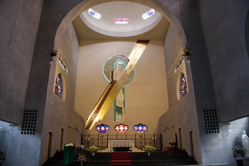 Hiroshima cathedral: sanctuary • The sanctuary of the Hiroshima Memorial Cathedral for World Peace.