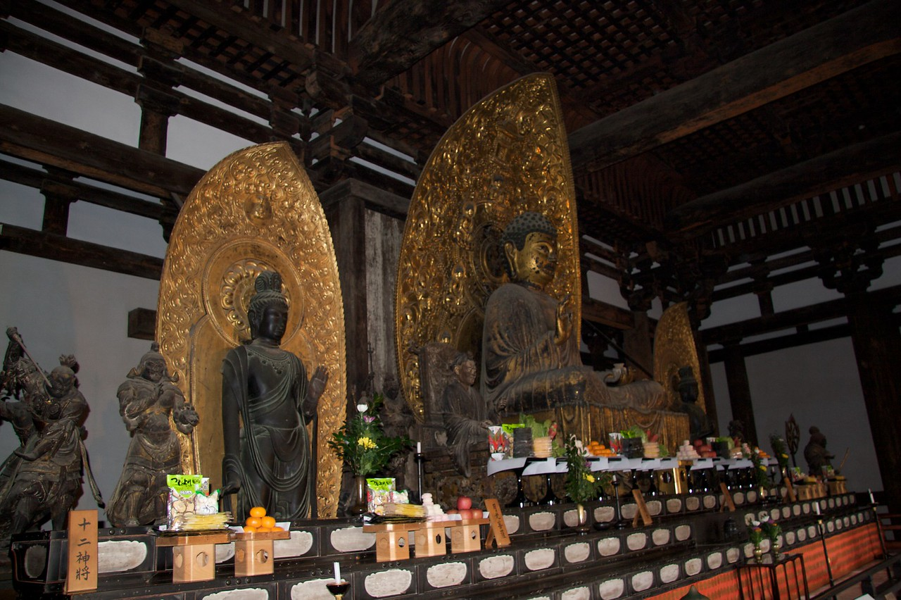 Collection of Buddhas • The collection of Buddhas in the Tokon-do golden hall at Kofuku-ji in Nara.