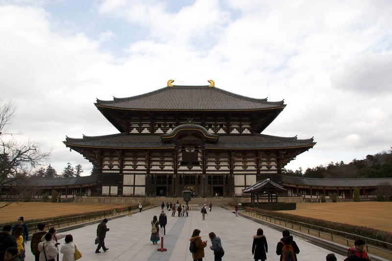 Todai-ji • This is purported to be the largest wooden structure in the world.