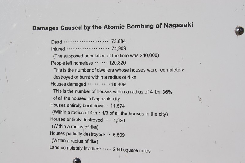 Results of the bombing of Nagasaki