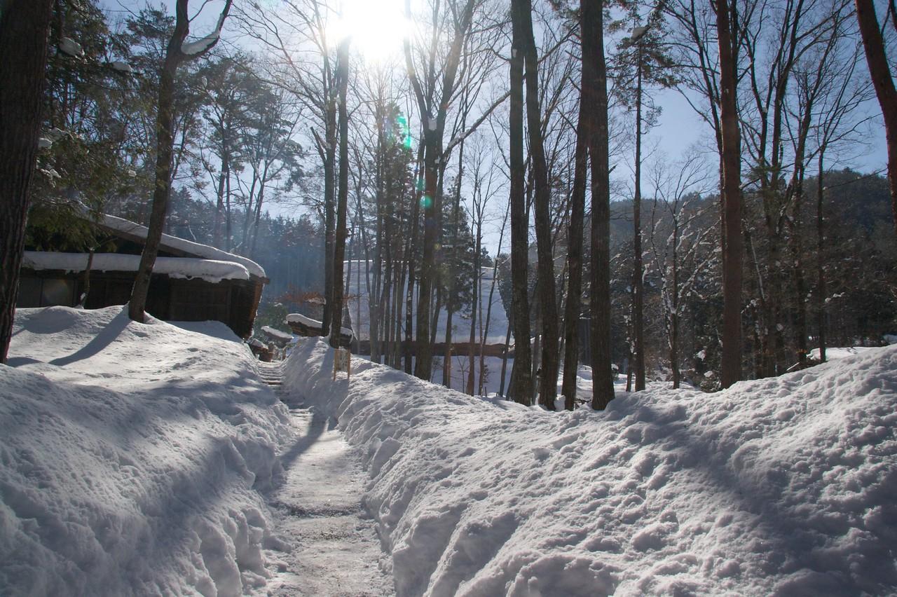 Deep snow at Hida Folk Village