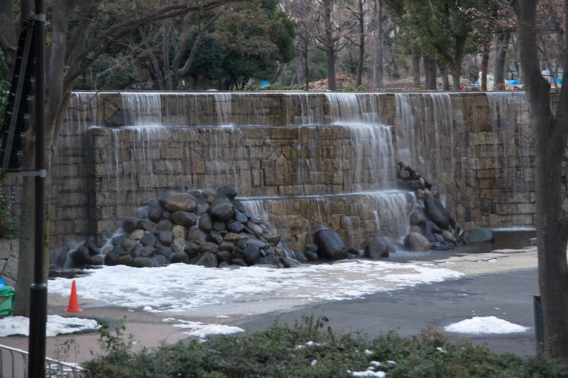Waterfall in Shinjuku Chu