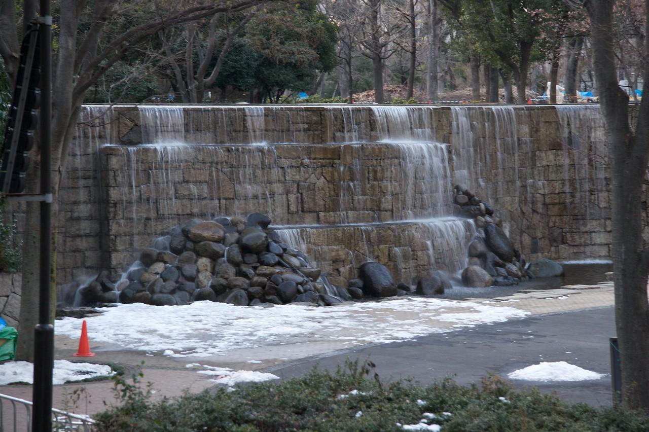 Waterfall in Shinjuku Chu
