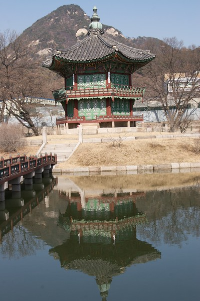 Hyangwonjeong • Built in 1873, this pavilion was named 'Hyangwonjeong', which means 'far-reaching fragrance pavilion'.