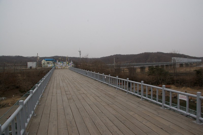 "Freedom bridge • Freedom bridge, which connects the two Koreas. When the armistice was announced in 1953, people in both the north and south of the country were given the opportunity to stay where they were, or to cross back over. Some from South Korea went back to the North to be with their families, but many from the North crossed to the South since they chose ""freedom'."