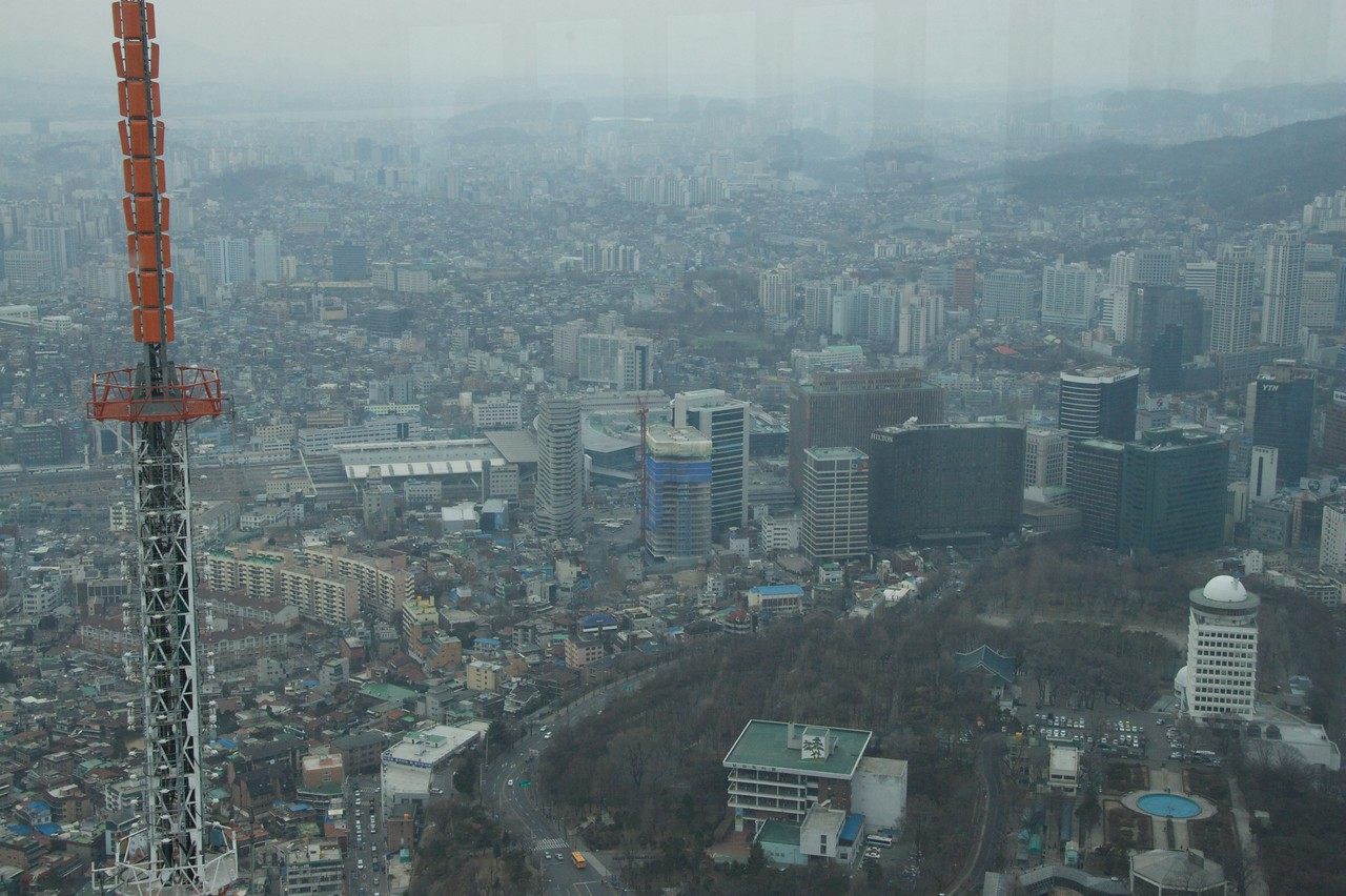 Seoul • There are a few high-rise buildings in some areas of Seoul, as seen from this view from Seoul Tower.