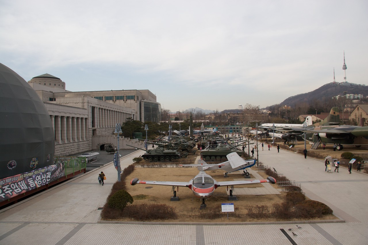 Armaments • An overview of the display of military hardware outside the War Memorial Museum in Seoul.