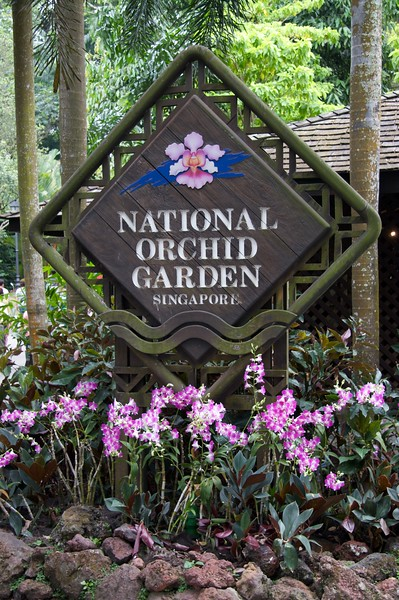 National Orchid Garden • The entrance to the National Orchid Garden, which is part of Singapore's Botanical Gardens.