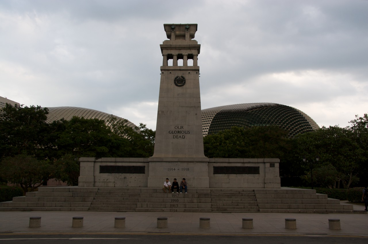 The Cenotaph • The Cenotaph in Singapore commemorating soldiers who fell in the Great War.