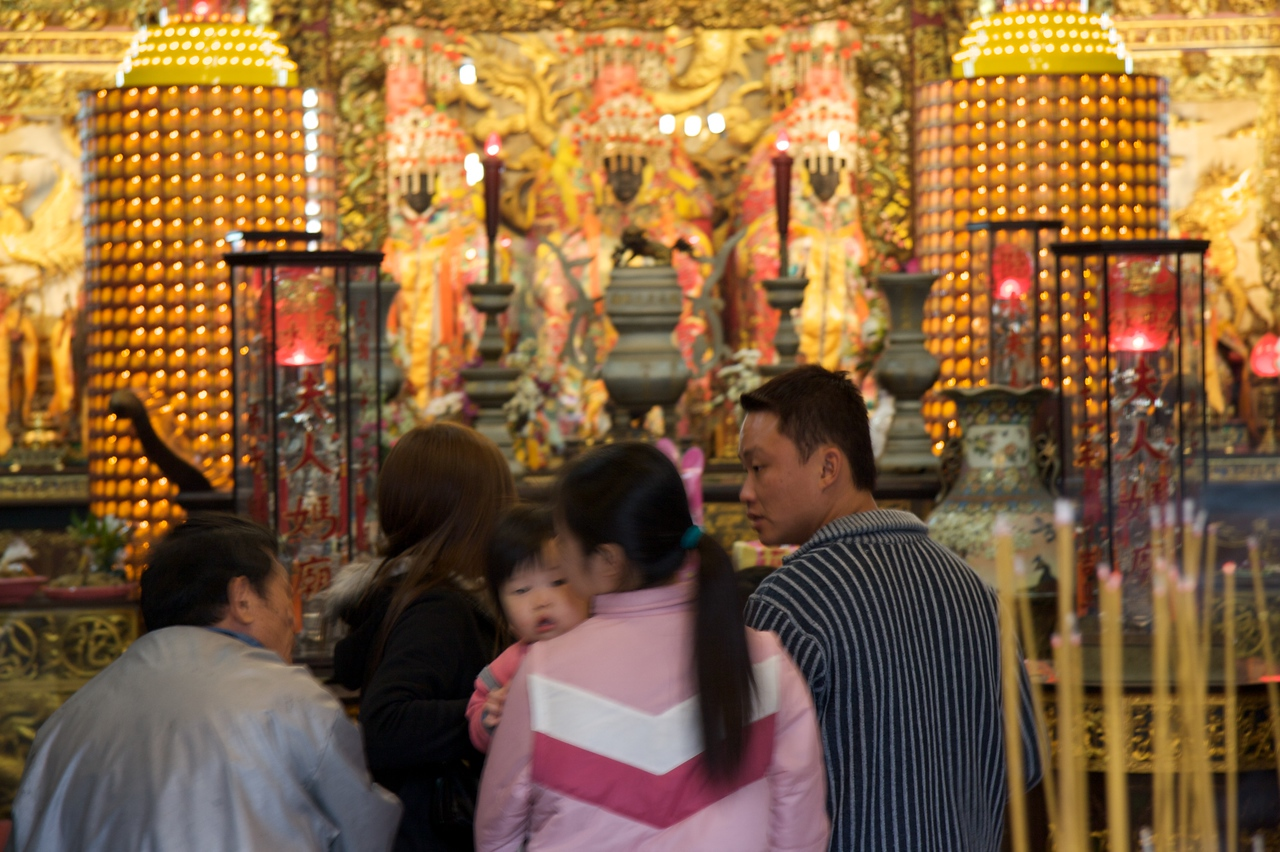 Families • Families visiting Lady Linshui's Temple, Tainan.