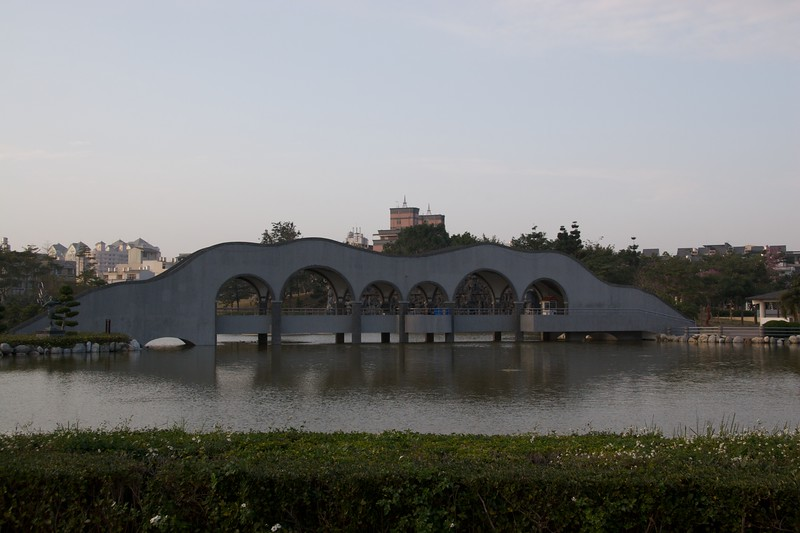 Fengle Sculpture Park lake • Fengle Sculpture Park in Taichung.