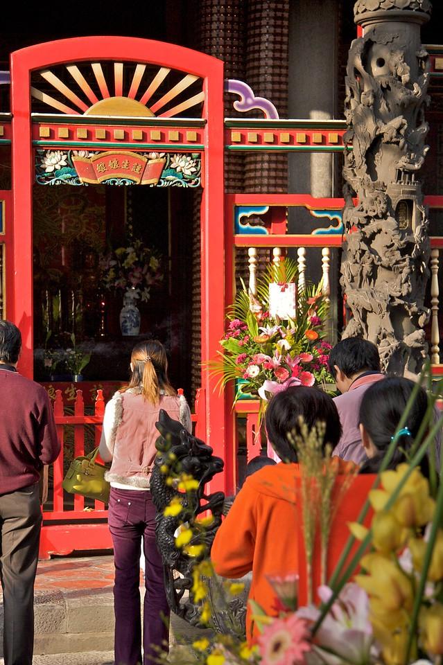 Pilgrims at Longshan Temple