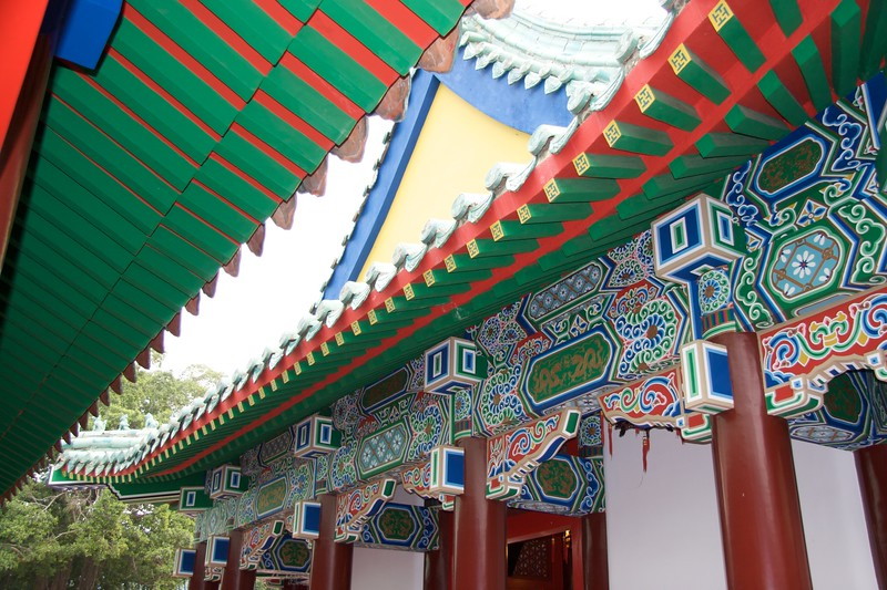 Painted roofs • Painted roofs at Koxinga's Shrine, Tainan.