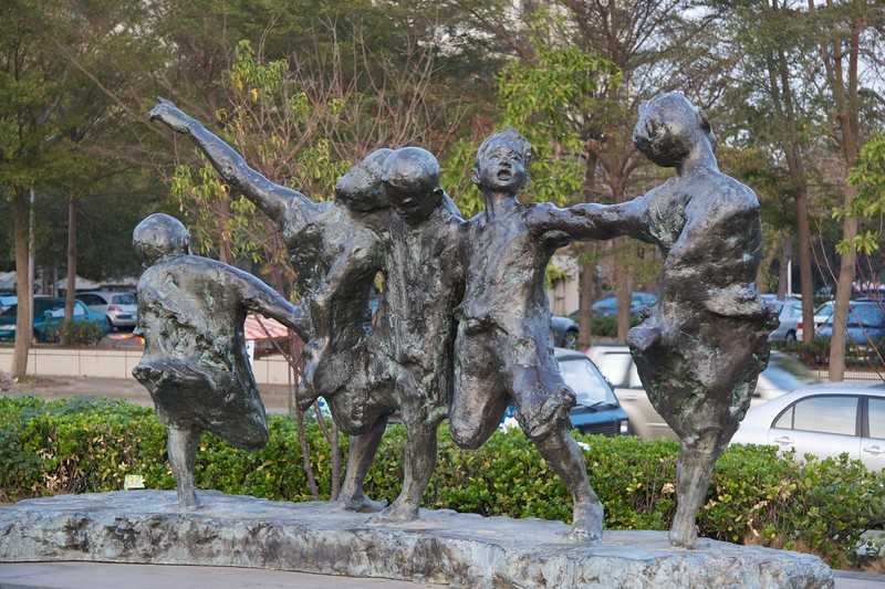Dancing boys sculpture • At Fengle Sculpture Park, Taichung.