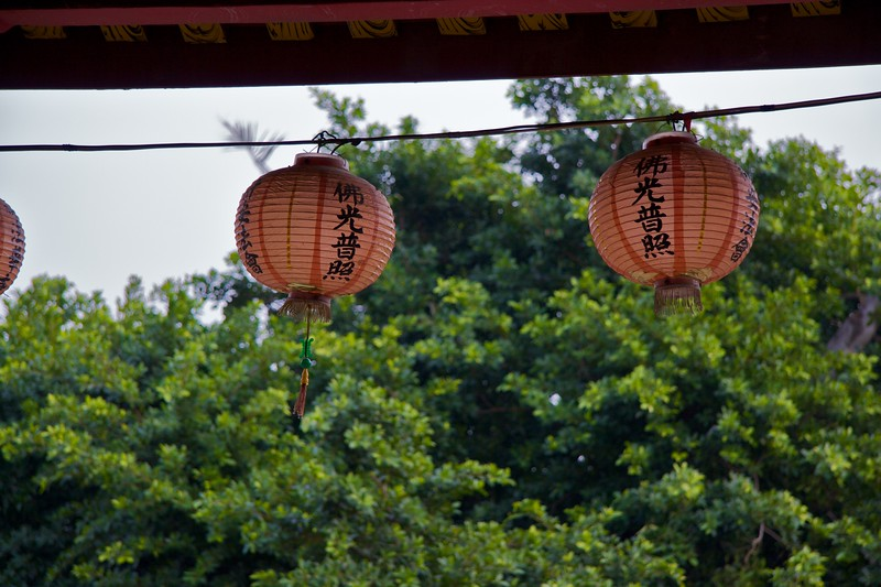 Lanterns in the wind • Lanterns at Fahua Monastery, Tainan.