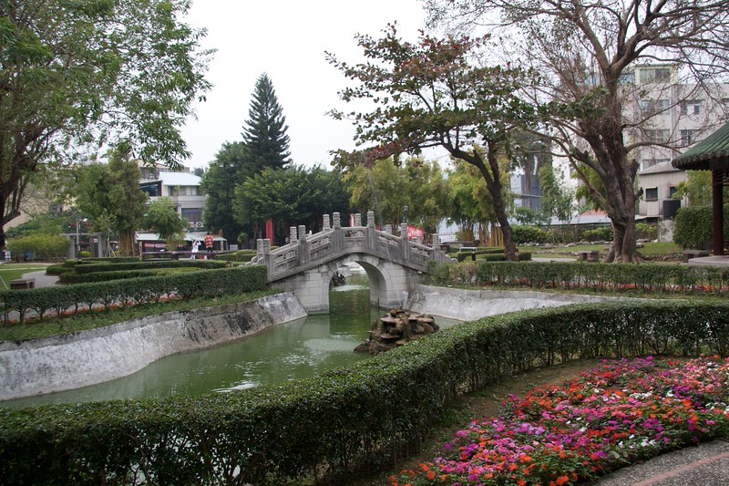 Pond • A pond in the grounds of Koxinga's Shrine, Tainan.