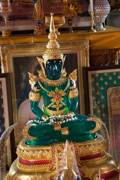 Jade Buddha • A jade statue at Wat Bupparam in Chiang Mai.