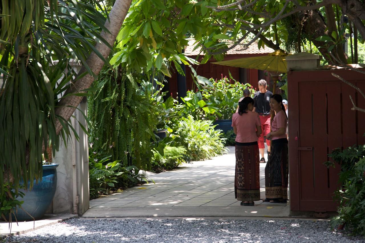 Tour guides • Tour guides at Jim Thompson's House, Bangkok.