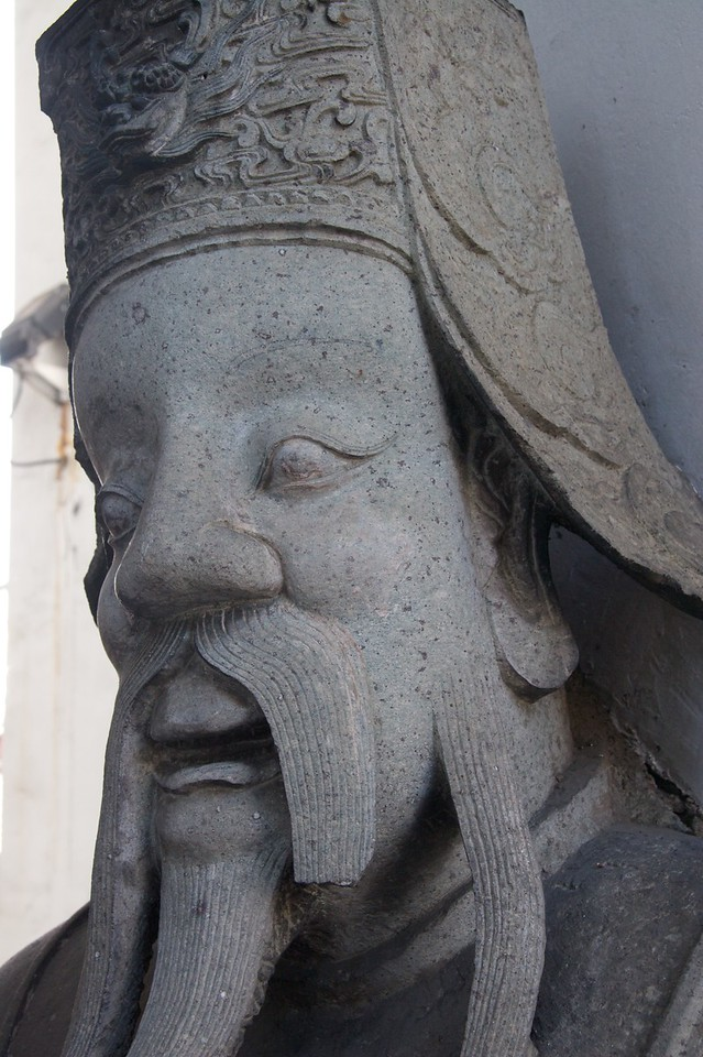 Stone statue • At Wat Po in Bangkok