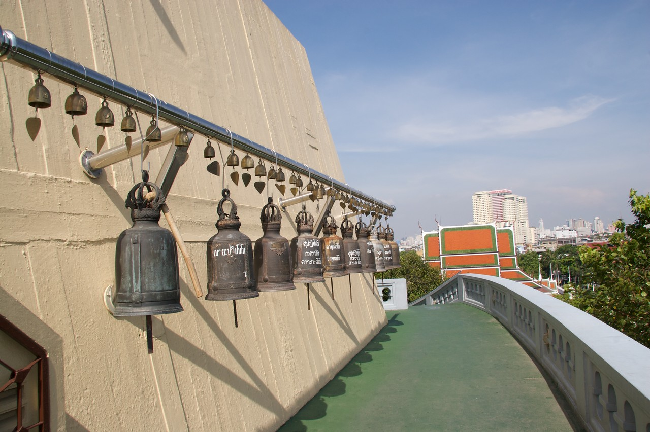 Bells • Bells at the Golden Mount (Wat Saket) in Bangkok.