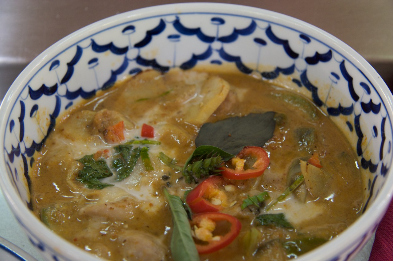 Green curry • My own efforts at Thai cooking.