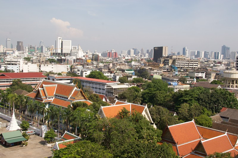 Bangkok • A view over Bangkok from the Golden Mount.