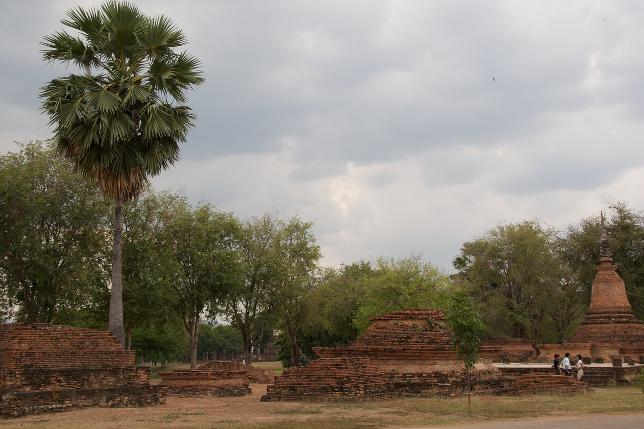 Sukhothai Historical Park • The heavy clouds overhead were about to open.