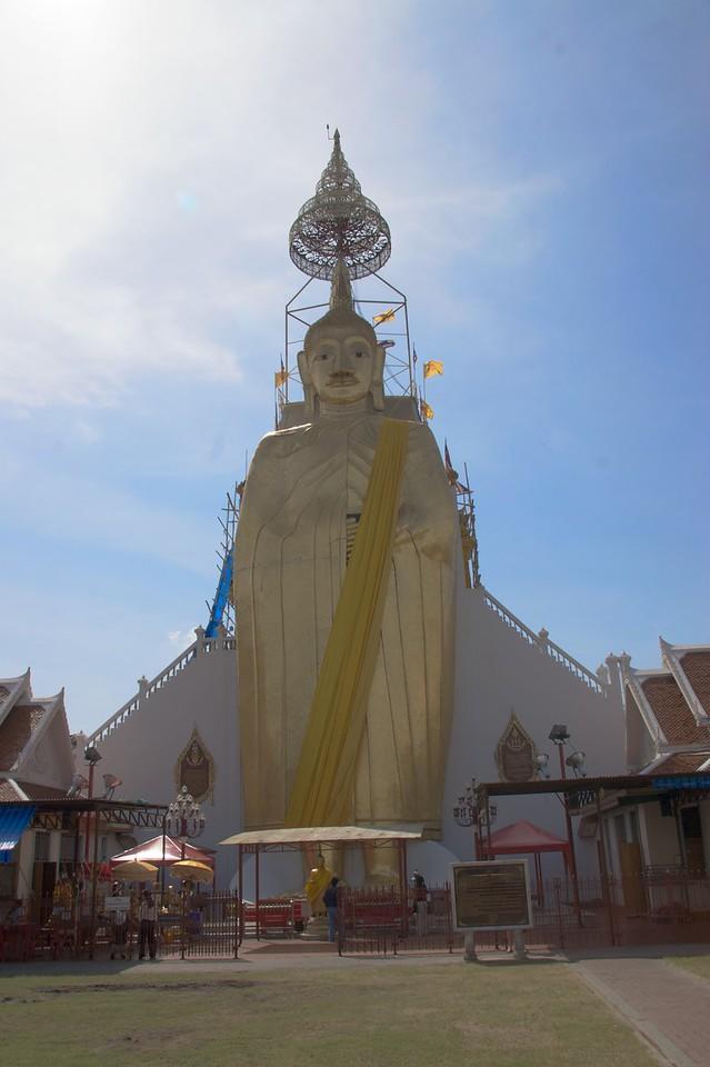 Buddha • A big statue of Buddha outside at Wat Trithotsa Thep in Bangkok.