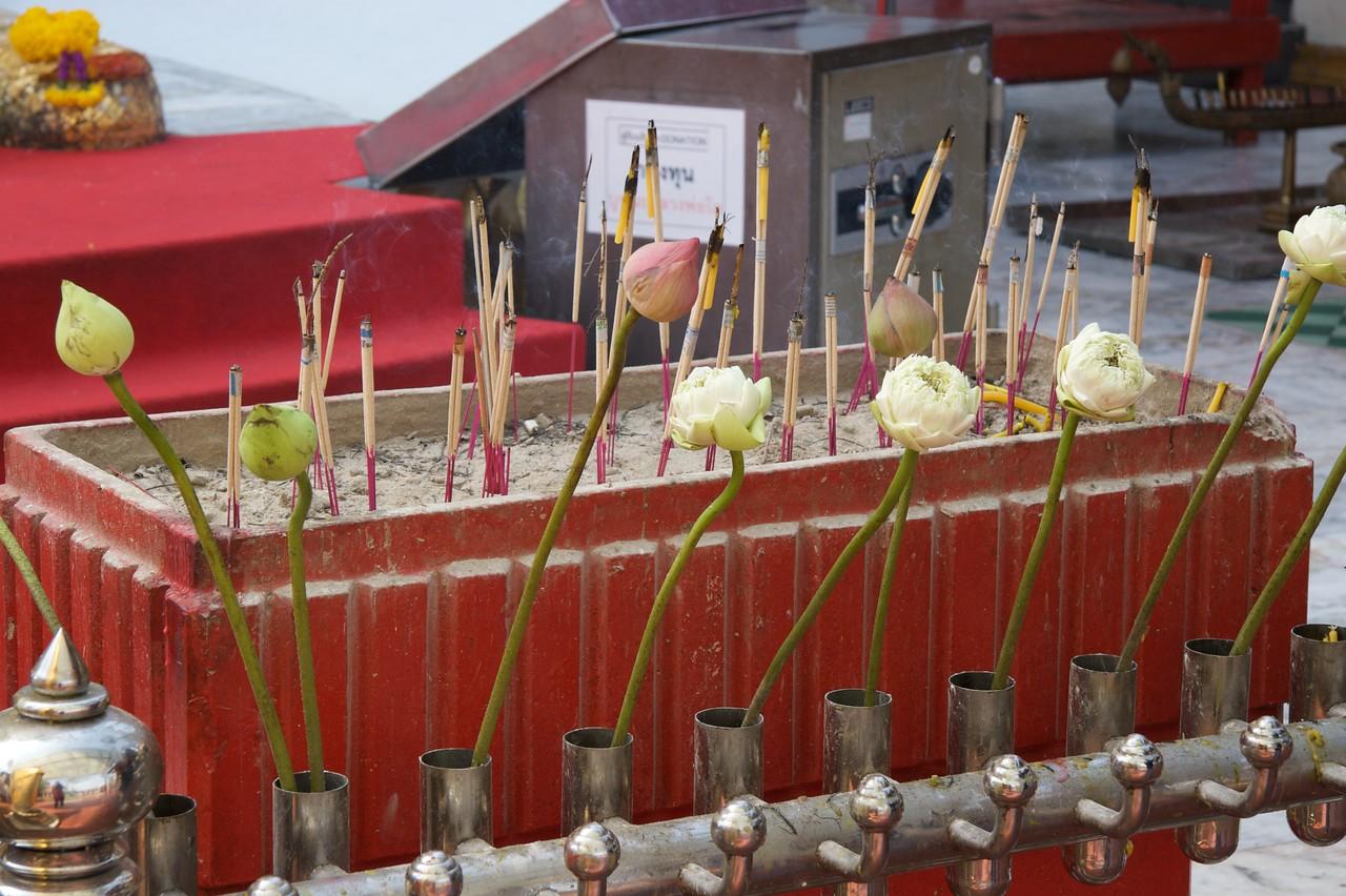 Incense • Incense at Wat Trithotsa Thep in Bangkok.