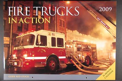 Fire Trucks in Action Calendar - 2009
