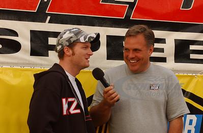 Dale Earnhardt Jr. is interviewed by Matt Yocum