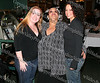 Melissa Higgins, Consuelo Hill and Myra Catala at the concert performance at the It's All Good Restaurance in Newburgh, NY