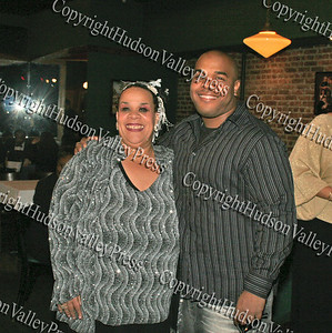 Consuelo Hill with her son at It's All Good Restaurant in Newburgh