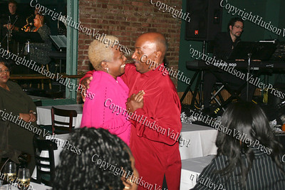 Grace and George Bowles dance during the Consuelo Hill concert at It's All Good restaurant in Newburgh, NY