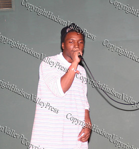 Joseph Johnson aka Bananna Clipps performs during the talent show