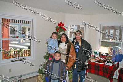 Segarra family in the living room of their new home