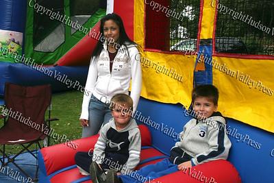 Patrick and Thomas McDonough with Brianca Rostran