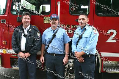 Lt Sean Maher, Scott Mocko Raymundo Mera of the Newburgh Fire Department