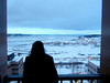 A frigid Christmas overlooking a piece of downtown Anchorage and the Knik Arm.