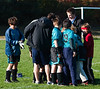 Pre-game huddle: Away game against Dorchester.