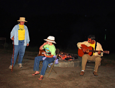 The Young-Wolffs did a campfire skit...