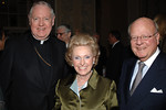 His Eminence Edward Cardinal Egan, Anne Mara (Widow of New York Giants & NFL Legend Wellington Mara) and Nick Mastronardi at the The 70th CYO Annual Club of Champions Dinner at the Waldorf Astoria Hotel