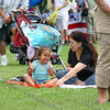Gabriela and Claudia Diaz enjoy the music on the lawn.