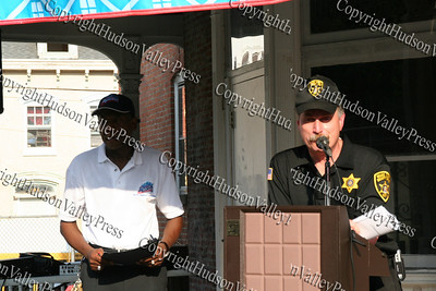 James Sanders and Orange County Sherrif Carl Duboise.