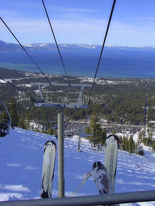 Looking down to Lake Tahoe (Heavenly Ski Resort).