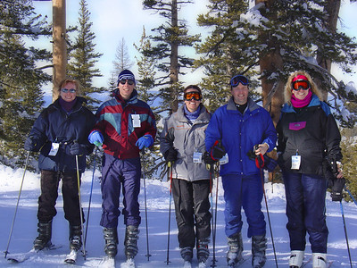 The epi ski gang on the slopes (that's me, 2nd from R).