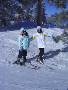 That is Elena and Emily in there somewhere, at Heavenly ski resort (Lake Tahoe)