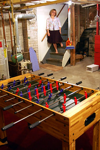Basement, complete with foosball