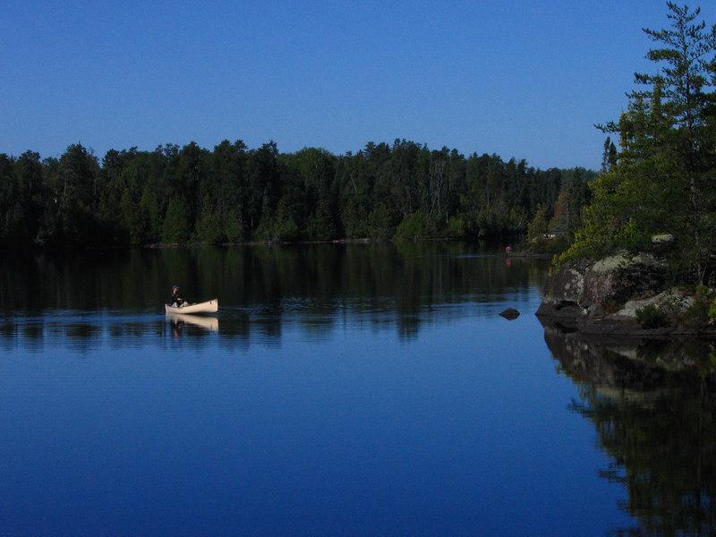 Morning 2, John takes a solo fishing tour around Polly.