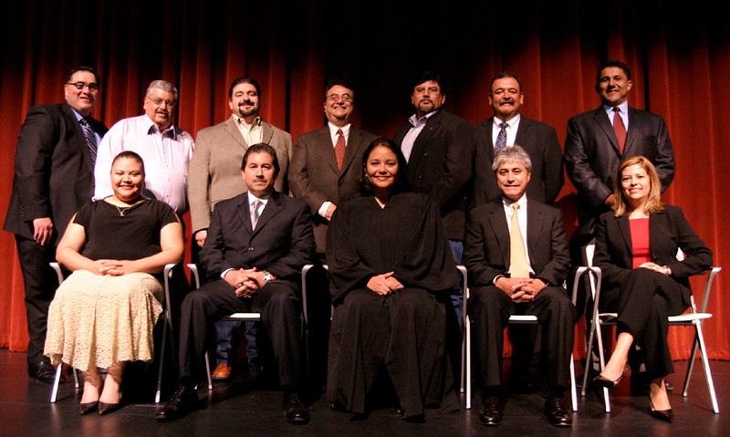 The HCADFW Board with Judge Dennise Garcia and President John H. Martinez-D.